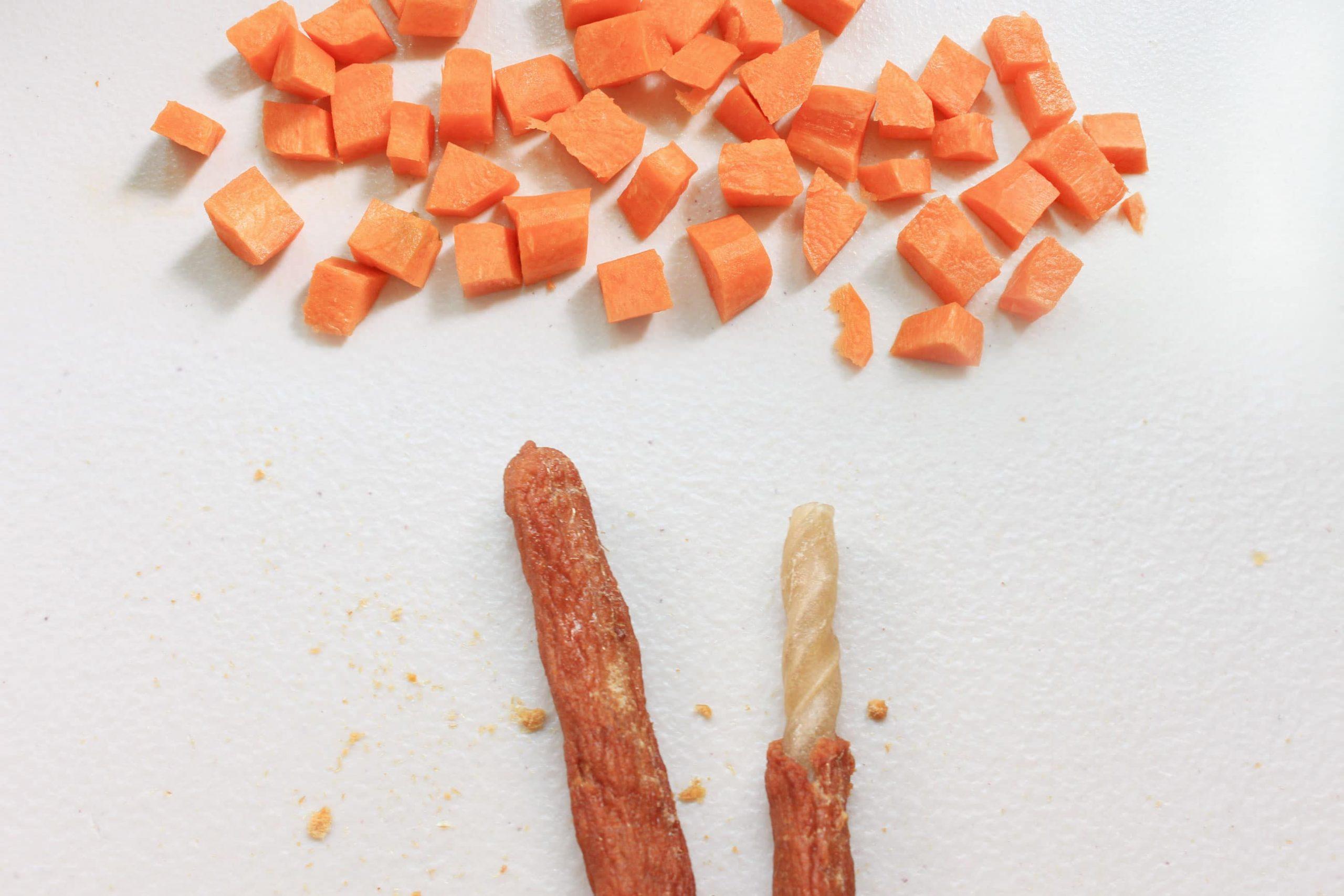 S3F2. 紅蘿蔔虱目魚皮骨捲10支