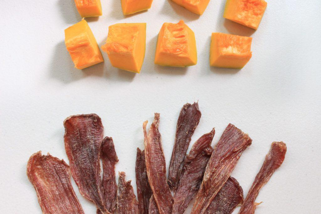 S1P1. 南瓜豬肉片75g